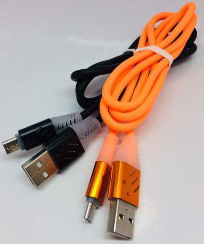 Cable Para Celular De Usb A V8 Con Luces Led Modelo Ep25619