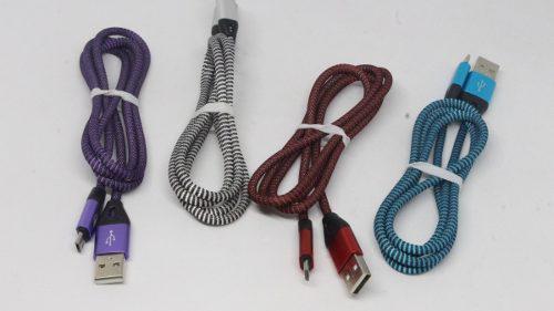 Cable Reforzado V8 Punta De Metal (mayoreo) Modelo Jhx-01