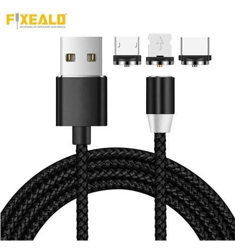 Cable Tipo C / Lightning / V8 / Android Usb Magnetico Rudo