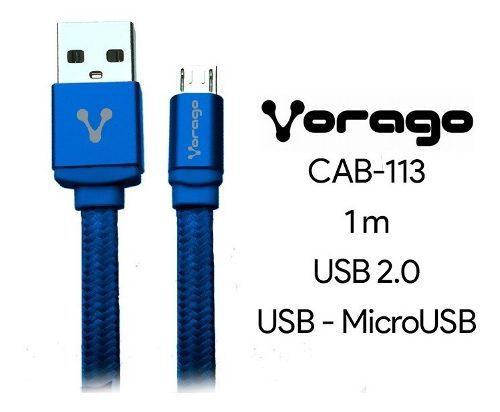 Cable Usb A Micro Usb V8 Vorago Cab-113 Para Celular Tablet