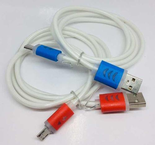 Cable Usb A V8 Con Luz Led Modelo Ep25620.