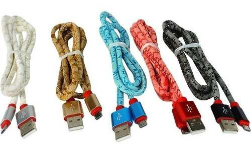 Cable Usb V8 Micro Usb Reforzado Estampado Puntas Metalicas