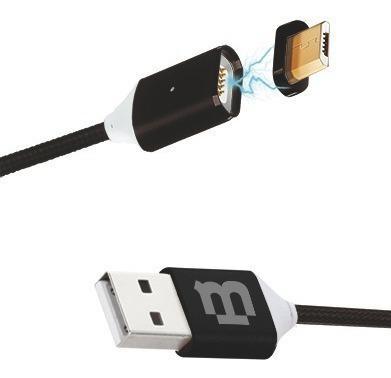 Cable V8 Magnetico Blackpcs Micro Usb Negro 1m (cablmtm-4)