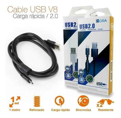 Cable V8 Usb Carga Rapida Y Datos Reforzado
