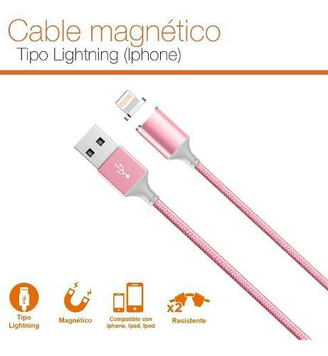 Cable iPhone 5 6 7 8 10 X Plus Magnético Uso Rudo