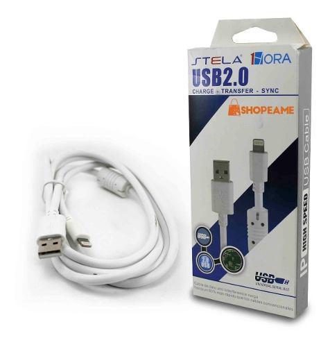 Cable iPhone 5 6 7 8 X Lightning Carga Rápida Y Datos 1.5mt