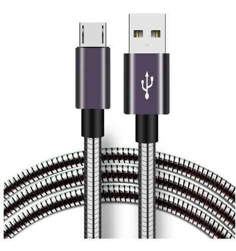 Cables Micro Usb V8 Metal Carga Rápida Y Datos 10 Piezas