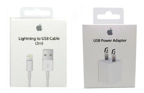 Cargador + Cable iPhone 5 6 7 8 X Lightning Apple 2m