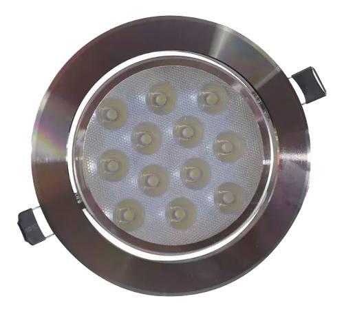 Empotrado Plafon Led 12w Spot Bote 12 Cm Satinado Luz Blanca