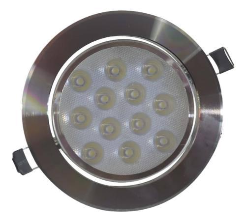 Empotrado Plafon Led 12w Spot Bote 12 Cm Satinado Luz Calida