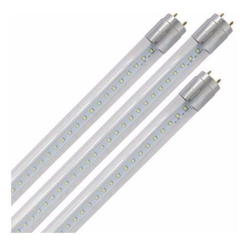 Foco Tubo T8 Led 18w Transparente Luz Fria 1 Lado 127v k