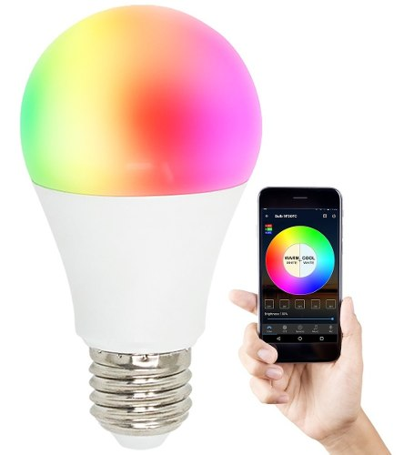 Foco Wifi Led Multicolor 4.5w Android Ios Google Home Alexa