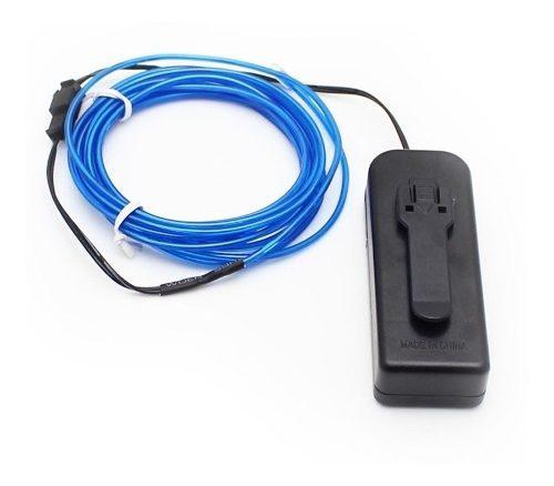 Hilo Luz Neon Portatil Azul Flexible 3 Metros
