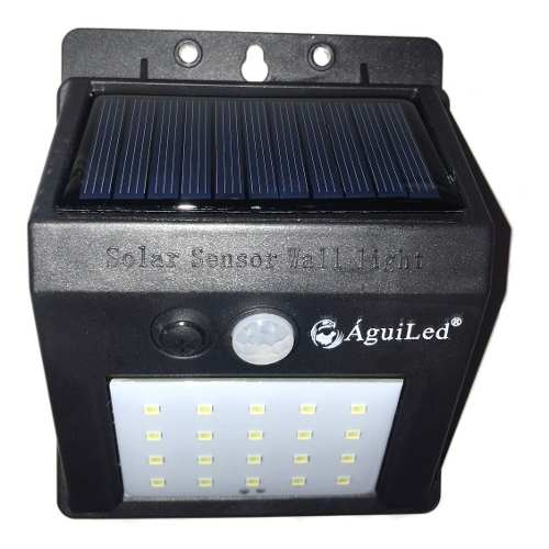Lampara Panel Solar 20 Leds Sensor De Movimiento Exterior