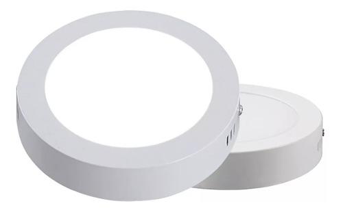 Lampara Sobreponer Led 12w Plafon Luz Blanca Redonda 17cm