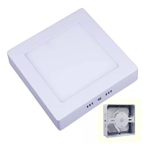 Lampara Sobreponer Led 9w Cuadrada Luz Blanca 12cm Oferta