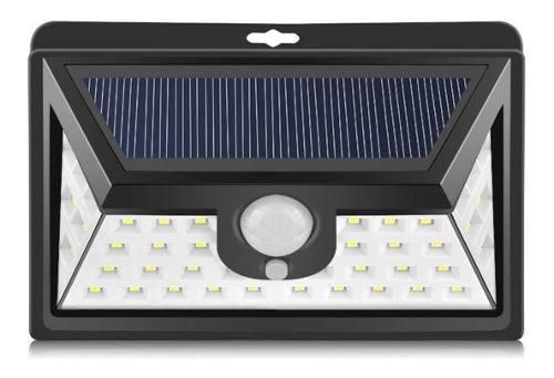 Lampara Solar 44 Led Exterior Angulo Amplio Jardin Sensor