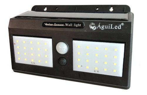 Lampara Solar Doble 40 Leds! Sensor De Movimiento P/exterior