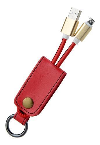 Llavero Con Cable Usb V8 Micro Usb Solo Carga Colores