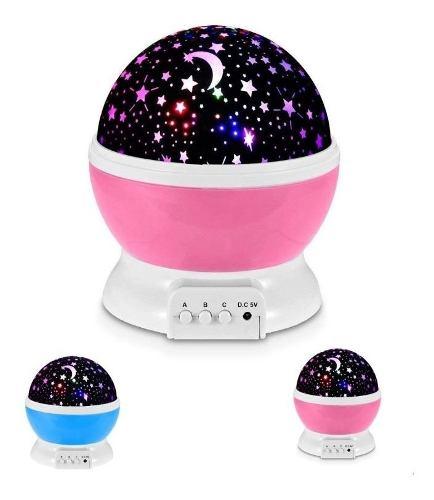 Lámpara Proyector De Estrellas Giratorias Para Niños T