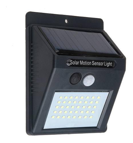 Lámpara Solar 40 Led Con Sensor De Movimiento Automatica