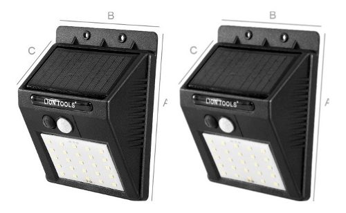 Lámpara Solar Led 2 Pack Sensor De Mov. Ip65 Envio