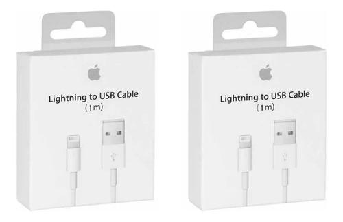Lote 2 Cables Lightning 100% Original iPhone 5 6 7 8 X iPad