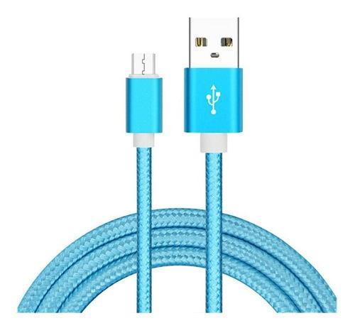 Lote Cable V8 Reforzado Puntas Metalicas 1.5 Metros Colores