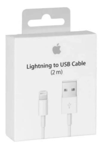 Lote Con 8 Cables Cargador Lightning 2m Para iPhone 6,7,8 X