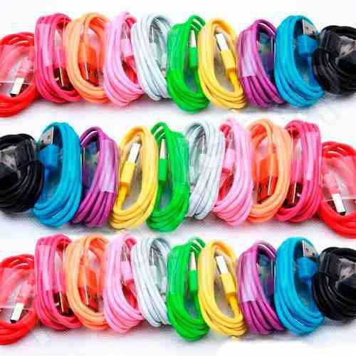 Lote De 10 Cable Microusb Alta Calidad De Colores Oferta