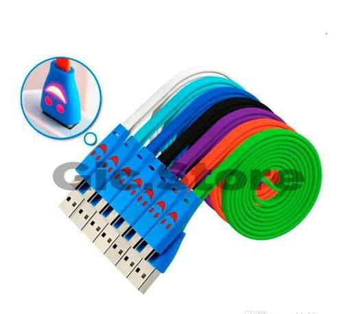 Lote De 10 Cable Usb V8 Microusb Luz De Led Smartphone