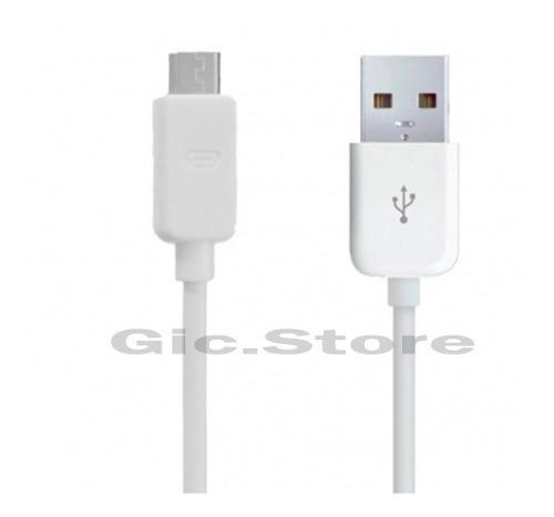 Lote De 10 Cables Micro Usb V8 Alta Calidad Blanco Android