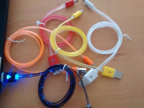 Lote De 5 Pzas Cable Usb Led V8 Sencillo Access G R