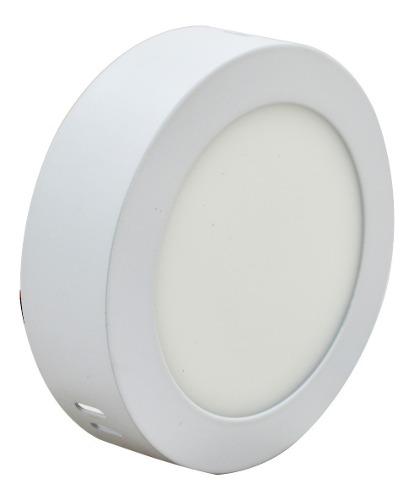 Luminario Led Sobreponer -b Redondo Luz Blanca 6w Adir