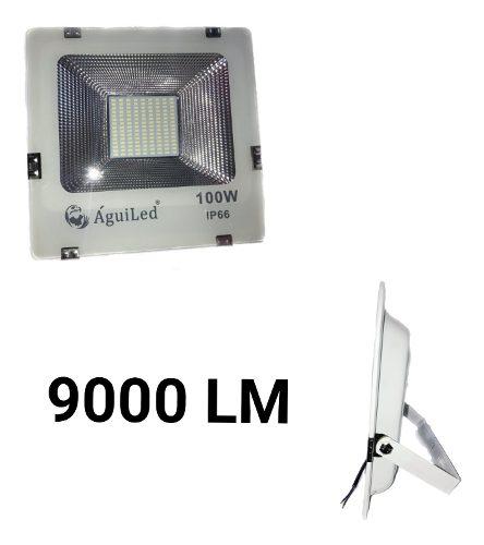 Reflector Led 100w Slim Luz Blanca P/ Exterior  V