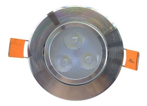 Spot Led Dirigible 3w Empotrar Plafón Bote Integral 7cm