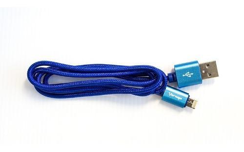 Vorago Cab-209 Cable Dual Micro Usb, Lightning 1 M Bolsa Azu