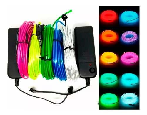 Wire Hilo 1m Luminoso Luz Neon Dj Cable Tron Led Tira Neon