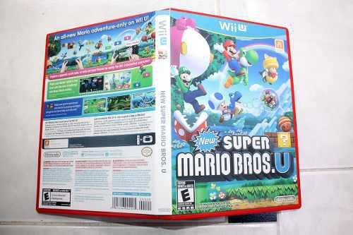 Caja Custom Para New Super Mario U Wii U (juego No Incluido)