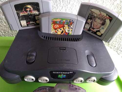 Consola Nintendo 64 Videojuego Clásico Original Mario 007