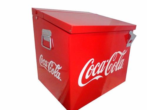 Hielera 24 Coca Cola Metalica