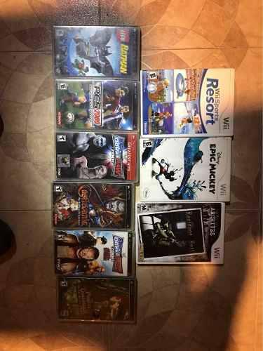 Lote De Juegos De Wii Y Psp, Mario Galaxy, Batman Lego