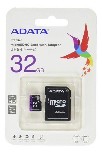 Memoria Micro Sd 32gb Adata Clase 10 Adaptador Premier Nueva