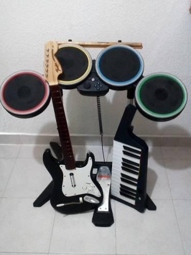 Nintendo Wii Rock Band 3 + Instrumentos