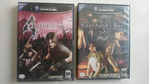 Resident Evil 4 Y Resident Evil 0 Zero Completos Gamecube