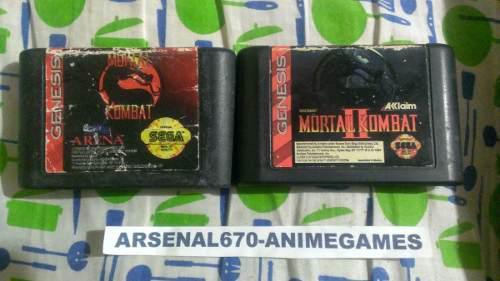 Sega Genesis Mortal Kombat Y Mortal Kombat 2