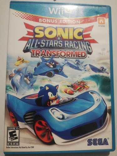 Sonic All Stars Racing Transformed. Wii U.