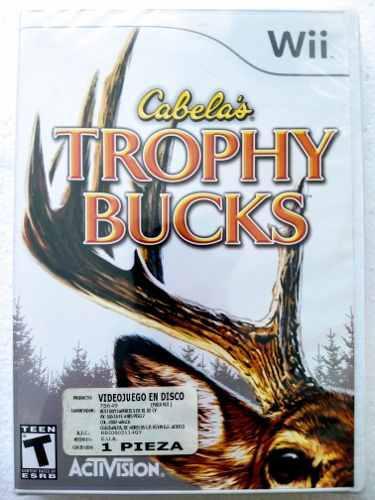 Trophy Bucks Cabelas Juego Nintendo Wii Nuevo Envío Gratis