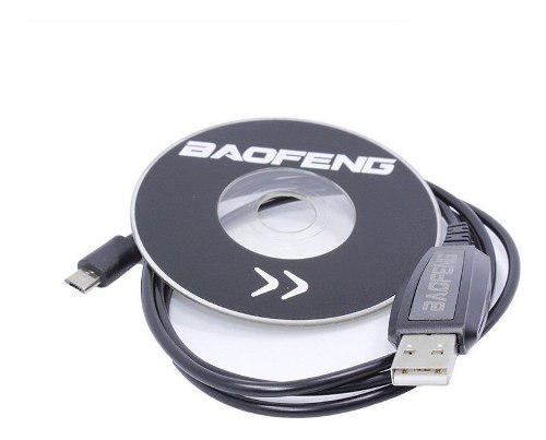 100% Originales Cable + Cd Programacion Radios Baofeng Bf-t1
