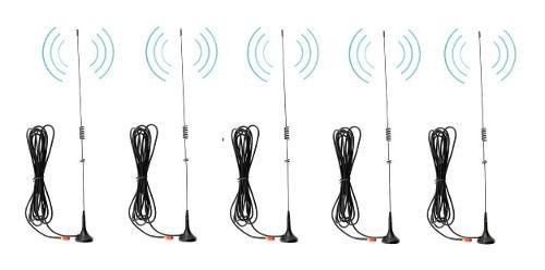 5 Antenas Auto Para Radios Baofeng Con Envío Incluido